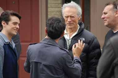 Clinto Eastwood went to Kearny to pick up some location shots for 'Jersey Boys.'