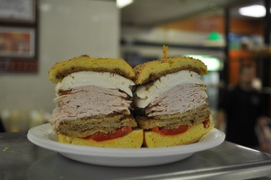 Subs don't get any thicker than the ones at Taliercio's in Middletown. This is the Mikey A.