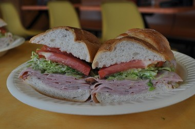 A prosciutto and capicola sub from Sorrento's in Freehold.
