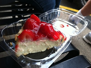 The delicious strawberry cheesecake at the Kenilworth Diner & Restaurant.