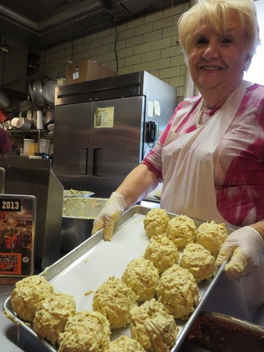 Nancy Devine is adamant about using only Maryland crab in Faidley's famous crab cakes