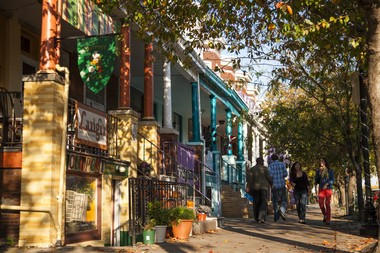 Hampden is a happening neighborhood for shopping and dining northwest of downtown