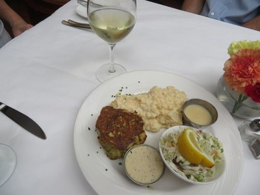 John Shield's award winning Gertie's crab cake at Gertrude's