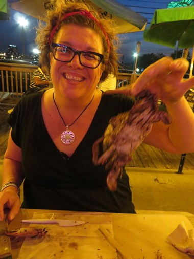Baltimore native Laura Burkhardt prides herself on her crab picking technique