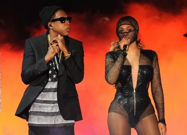 Beyonce and Jay-Z at the Metlife Stadium stop of their On the Run tour.