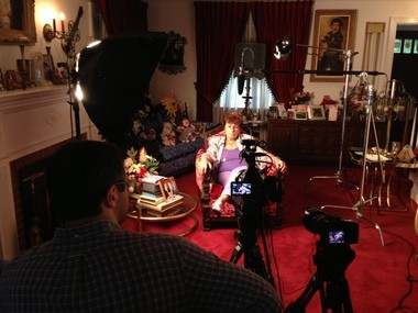 Rosalyn Bernstein-Charnes being interviewed by Andrew K. Ruotolo III for 'The Rat Slayer of Hillside, N.J.' Her ex-husband, Lee Bernstein, refused to drop animal cruelty charges against Frank Balun for killing a trapped rat.