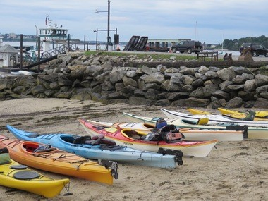 Sea kayaking is a great way to explore Peak's Island off the coast of Portland