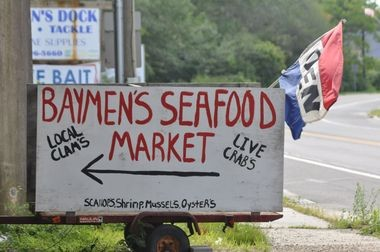 Baymen's Seafood in New Gretna is not easy to find - turn under the bridge, go down the bumpy road.