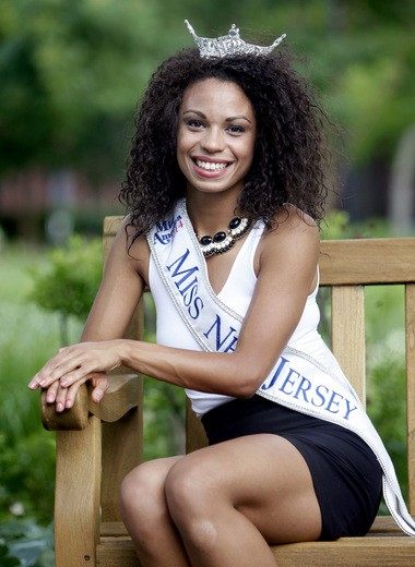 Cierra Kaler-Jones, Miss New Jersey 2014. Her parents both work at Harrah's Atlantic City.