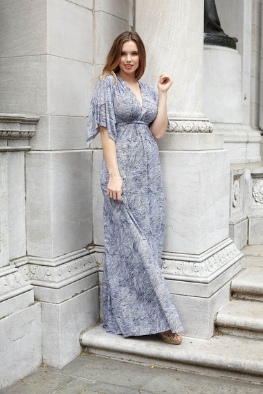 Members of the fashion subscription service, Gwynnie Bee can experiment with looks like a long caftan dress by Rachel Pally and return it for another item as part of their monthly plan.