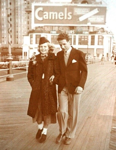Bette Cooper and Louis Off, partners in a 1937 Miss America escape. (Star-Ledger file photo)