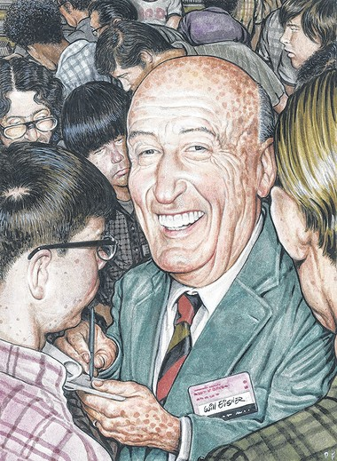 Will Eisner, a comic book writer-artist called the creator of the graphic novel, as depicted by Friedman.