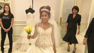 "Nicole ""Snooki"" Polizzi said Polizzi is seen here wedding dress shopping on season 3 of ""Snooki&JWoww."""