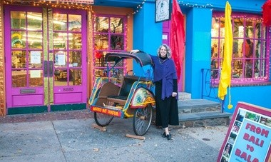 Laura Cohn brings Bali art and handcrafted gifts to her pop-up shop in Chestnut Hill Nov. 7-Dec. 23.