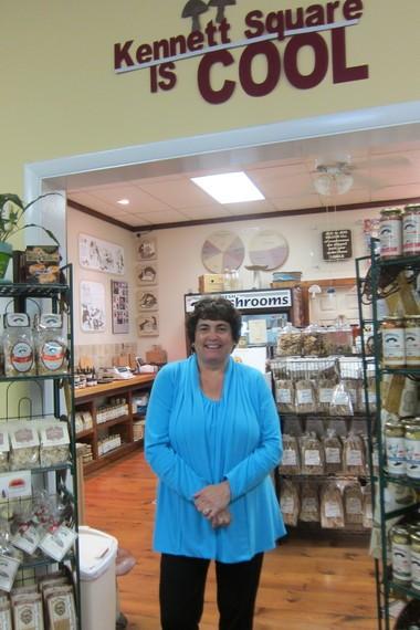 Kathi Lafferty owns The Mushroom Cap on State Street in Kennett Square.
