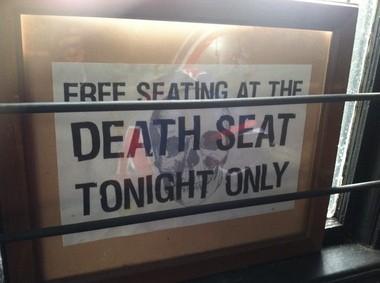 Sign, Death Seat, Old Canal Inn, Nutley