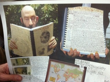 The one-and-only Dr. Beard with several of his letters to Weird N.J.