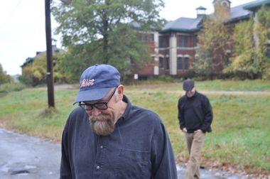 Mark Sceurman (foreground) and Mark Moran at Overbrook Asylum