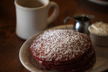 Red velvet pancakes at Toast in Asbury Park on Oct. 17, 2014.