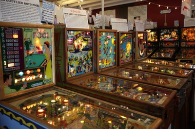 1950's pinball machines at Silverball Museum in Asbury Park on Oct. 17, 2014.