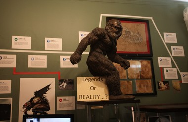 A Big Foot exhibit in the Paranormal Museum in Asbury Park on Friday, Oct. 17.