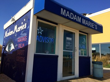 Madam Marie's psychic shop on the Asbury Park boardwalk on Oct. 17, 2014.
