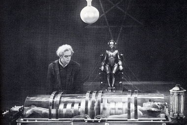 """Rudolf Klein-Rogge, first of the great movie mad scientists, in """"Metropolis."""""""