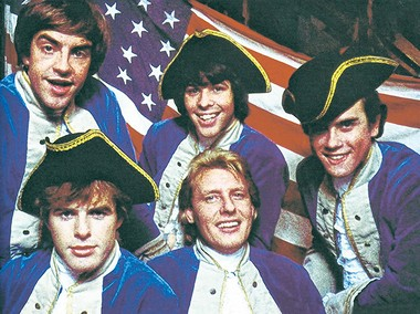 """Mark Lindsay (top left) and the group Paul Revere and the Raiders once portrayed themselves on an episode of """"Batman."""""""