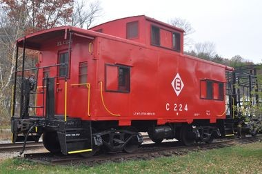 This red caboose can be found at the former Newfoundland train station on Route 513.