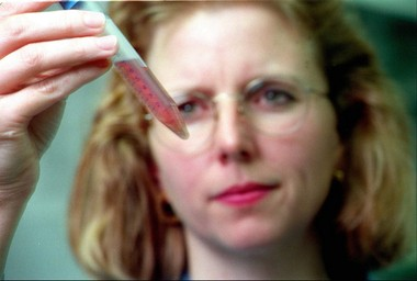 Amy Howell, a Rutgers scientist, evaluates cranberry fractions at the Philip E. Marucci Center for Blueberry and Cranberry Research in Chatsworth in 1998. She says that in many forms, cranberries can thwart bad bacteria in the body. (Patti Sapone/Star-Ledger file photo)