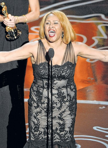 """""""I said, 'Lord, give me a song,'"""" says Love of singing at the Oscars in March during her acceptance speech for """"20 Feet From Stardom."""""""