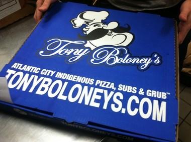 Pizza box, Tony Boloney's (Peter Genovese I NJ Advance Media for NJ.com)