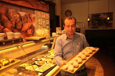 Haytad Takici Urachyan, an employee at Old German Bakery in Hoboken on Nov. 21, 2014.