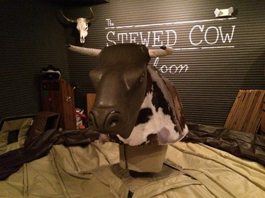 The mechanical bull at The Stewed Cow in Hoboken on Nov. 21, 2014.