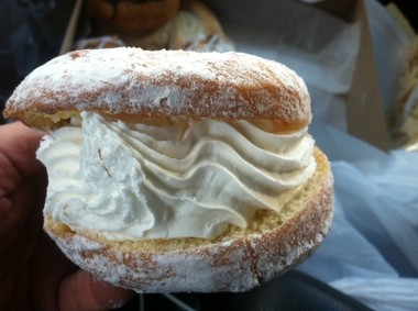 Good luck fitting the cream doughnut at Deluxe Bakery in your mouth (Peter Genovese I NJ Advance Media for NJ.com)