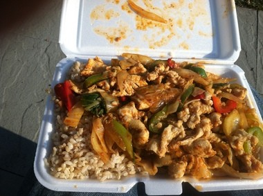 The spicy, addictive Chhar Kroeurng chicken dish at the Cambodian Cuisine Torsu truck in Newark (Peter Genovese I NJ Advance Media for NJ.com)