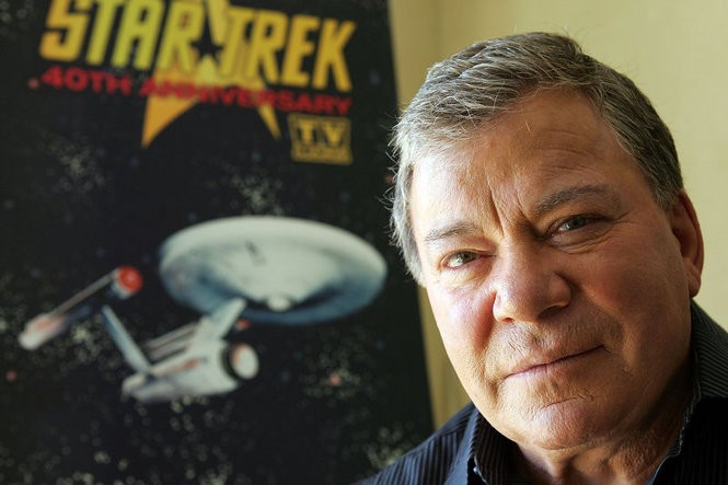 William Shatner celebrates the 40th anniversary of 'Star Trek' in 2006 -- Shatner will appear at the Bergen PAC this weekend, and the Count Basie early next month.