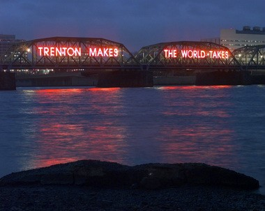 The 'Trenton Makes, The World Takes' sign on the Lower Trenton Bridge is one of the most visible mottos of any New Jersey place. (Tony Kurdzuk/Star-Ledger file photo)