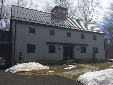 The exterior of Colaneri's Ramsey home, which he says was designed, in part, to mimic a barn. (Amy Kuperinsky | NJ Advance Media for NJ.com)