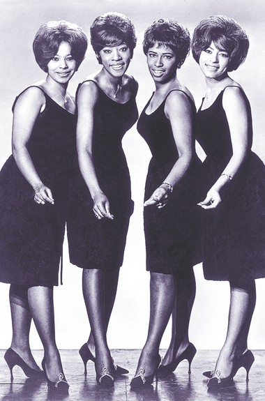 """Judy Craig, second from left, with the Chiffons in the 1960s. """"We took turns picking out dresses for all of us to wear,"""" Craig says."""