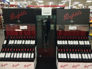 Choices, choices. A $158,000 bottle of wine, or a $15 bottle of wine, at Sam's Club in Freehold (Peter Genovese I NJ Advance Media for NJ.com)