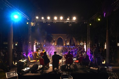 The Nile Project, pictured here in a concert in Al Azhar Park, Cairo, Egypt, will conclude its current tour on Saturday at the McCarter Theater in Princeton.