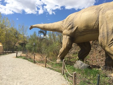 One appeal of Field Station has been its placement of robotic dinosaurs within the existing park foliage. (Amy Kuperinsky | NJ Advance Media for NJ.com)