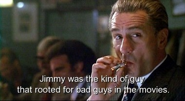Robert De Niro as Jimmy Conway, the film's cold center