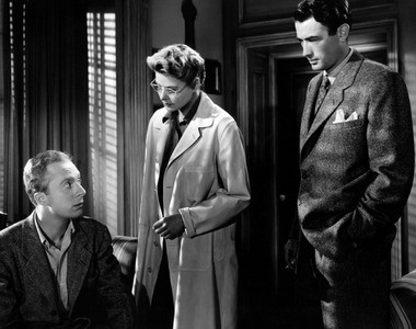 Lloyd, left, appeared with Ingrid Bergman and Gregory Peck in Hitchcock's 'Spellbound'