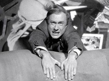 Lloyd as the title villain in Hitchcock's 1942 thriller, 'Saboteur'