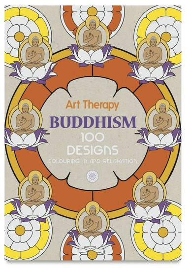 A Buddhism-themed coloring book from Art Therapy. (Jacqui Small LLP)