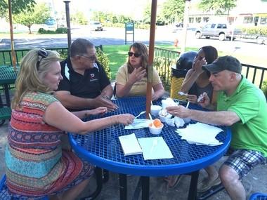 Munchers sample ice cream at Mrs. Walker's Famous Homemade Ice Cream in Forked River (Peter Genovese I NJ Advance Media for NJ.com)