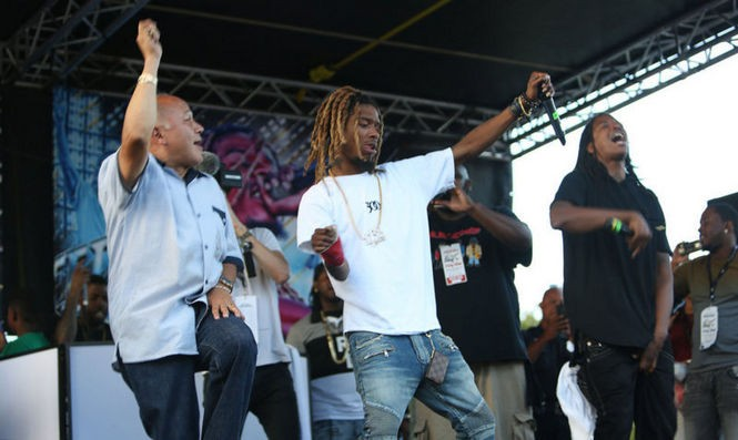 Fetty Wap dancing alongside the Jose 'Joey' Torres, the mayor of Paterson. Torres presented Fetty with a key to the city. (Adya Beasley | NJ Advance Media for NJ.com)