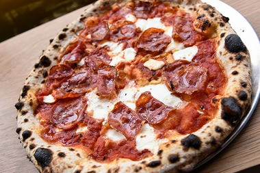 "Talula's in Asbury Park, offers a specialty bakery, pizza and bar menu. This is the ""Beekeeper's Lament"" and includes hot Calabrian soppressata, fresh mozzarella and local honey. (Russ DeSantis 